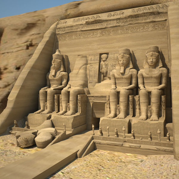Abu Simbel Texture Maps