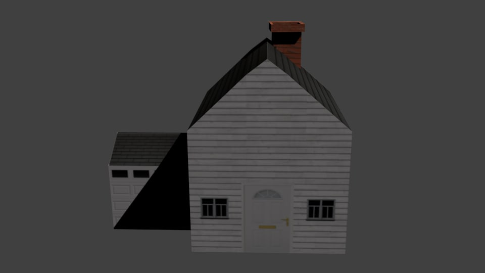 House + Picket fence