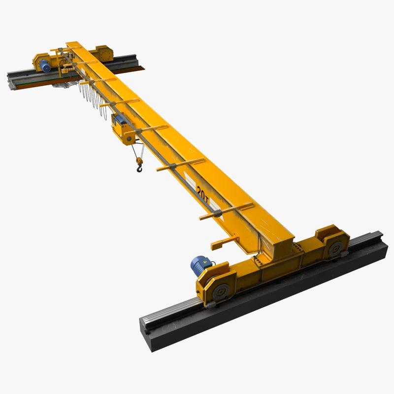 Overhead Cranes And Hoists : Overhead crane hoist obj