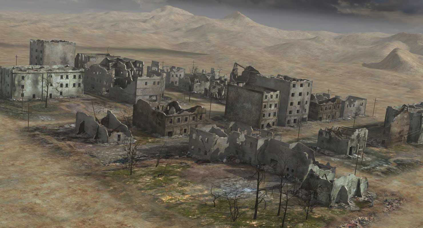 Ruined city ww2 style max for Cities destroyed in ww2