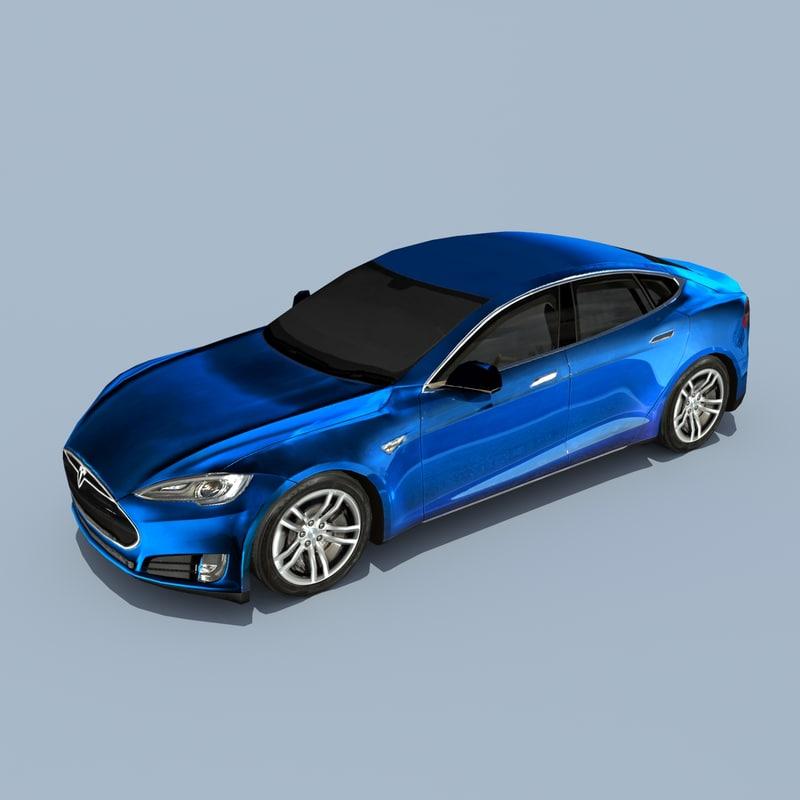 Telsa Model S Deep blue