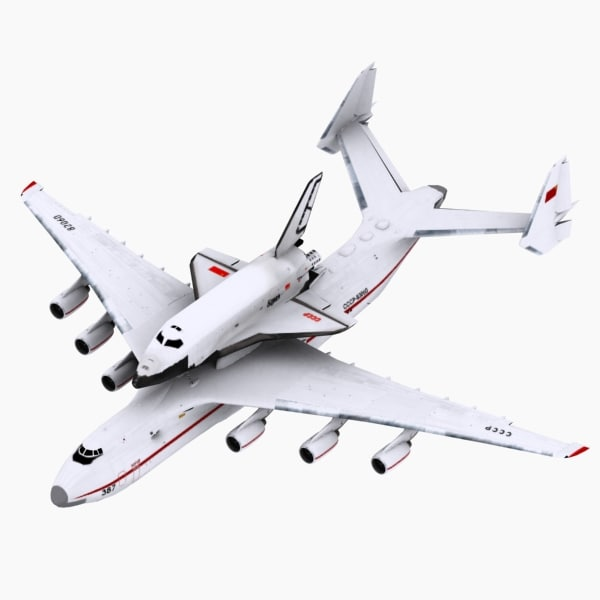 Antonov AN225 with Buran space shuttle