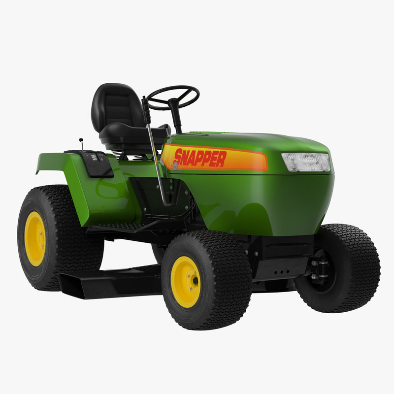 Lawn Tractor Snapper Rigged 3d model 00.jpg