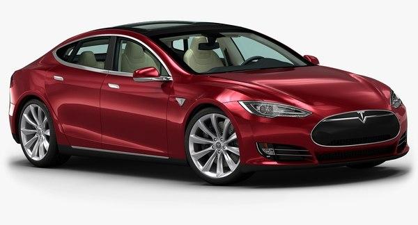 2014 Tesla Model S 3D Models