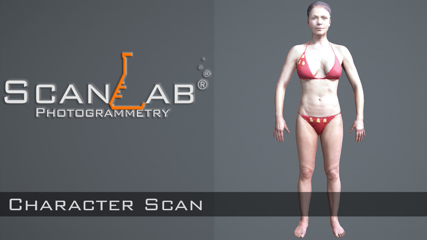 Female Scan - Sharon 4096 - Rigged
