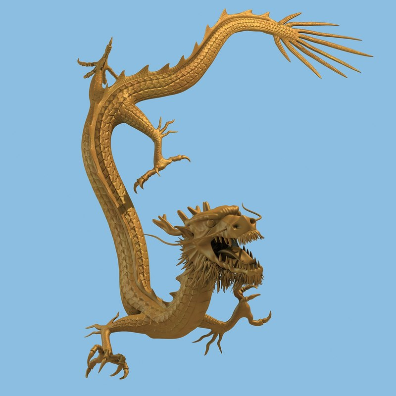 chinese dragon 3d model - photo #27