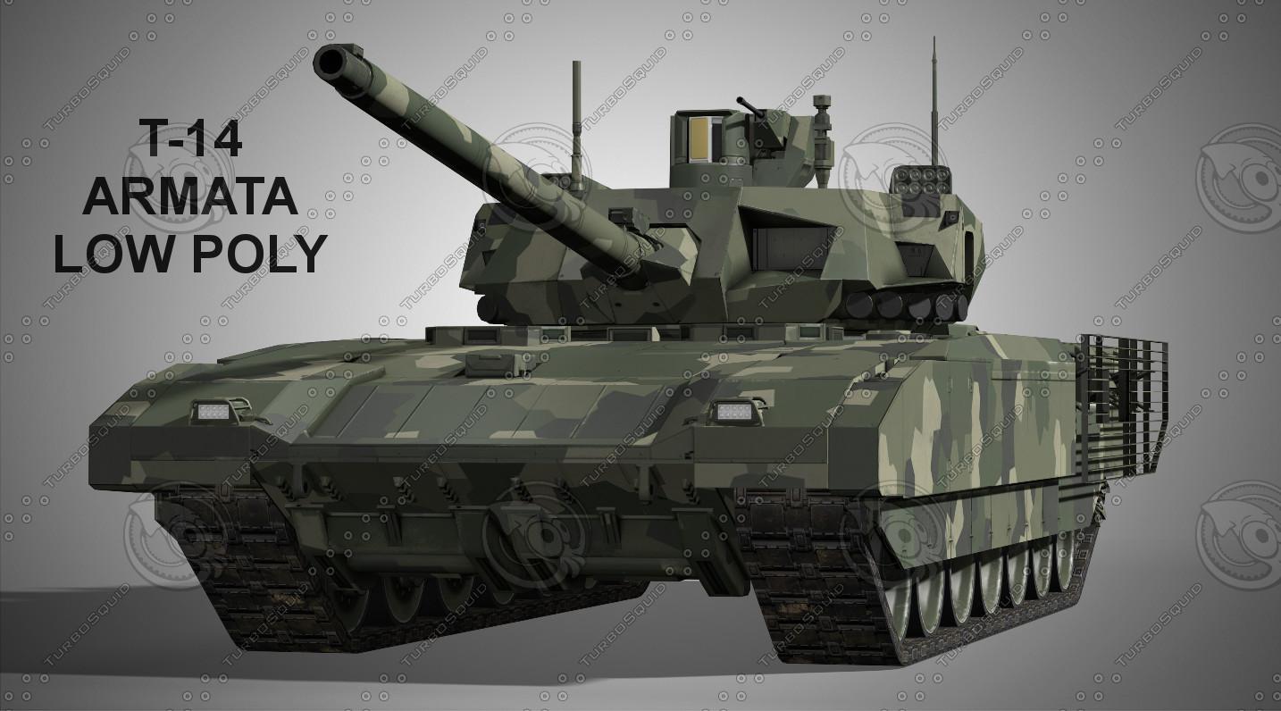 ARMATA T-14 Low Poly