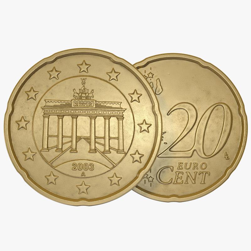 German Euro Coin 20 Cent