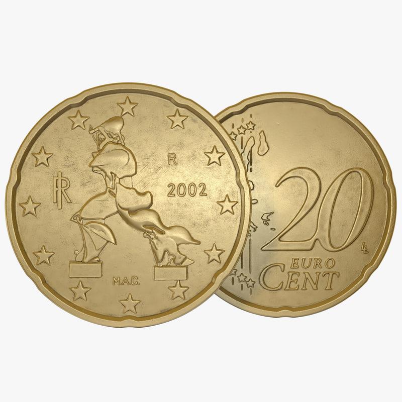 Italian Euro Coin 20 Cent