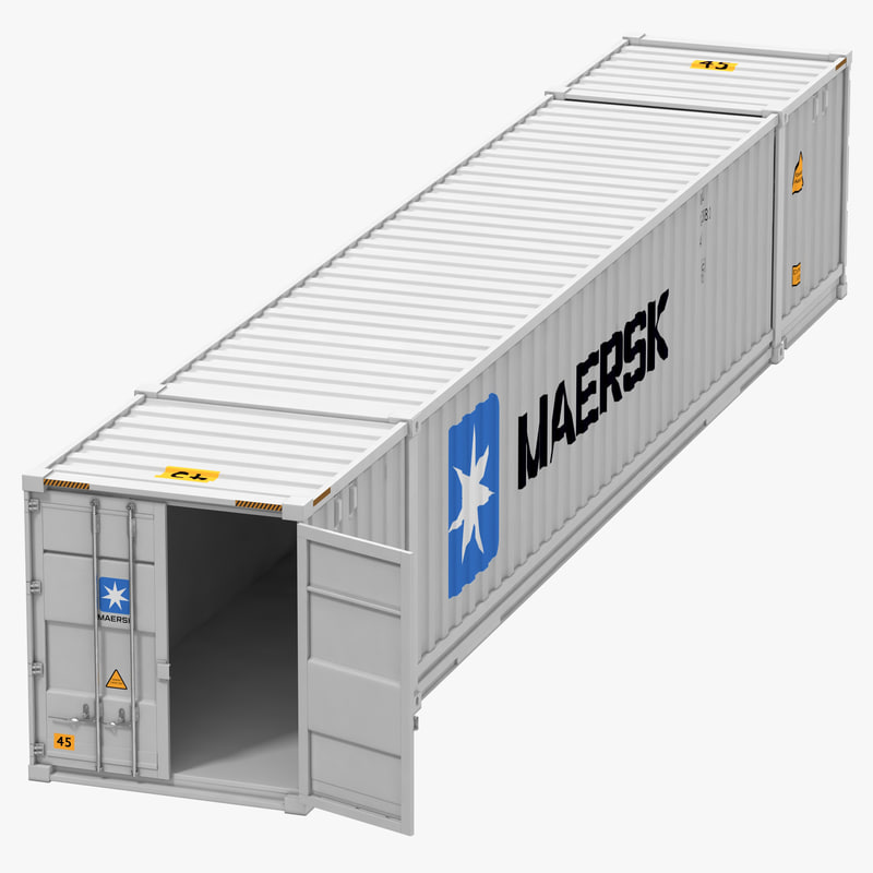 53 Ft Shipping Iso Container 3d Max