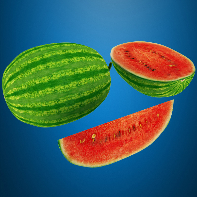 maya watermelon half slice
