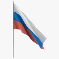 russian flag 3D models