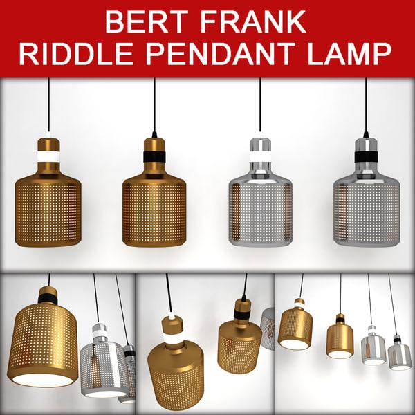 BERT FRANK - RIDDLE PENDANT LAMP 3D Models