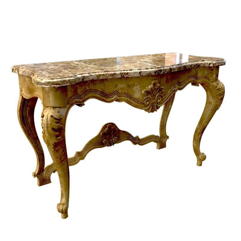 Seven Sedie Baroque Console table Clizia