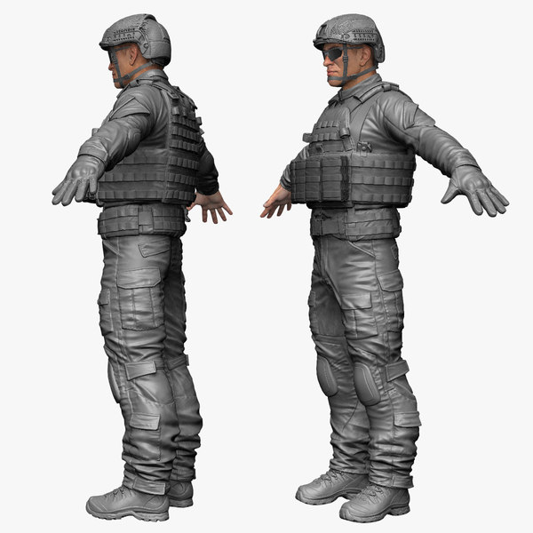 Military Male US Soldier NAVY SEALS 3D Models
