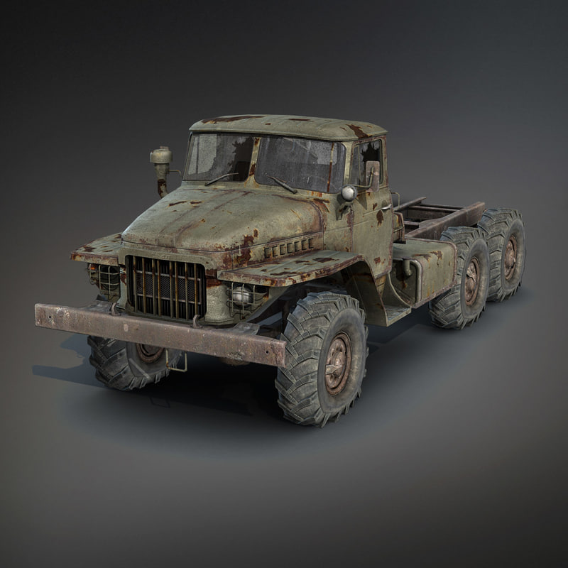 Ural-375 Chassis Rusty