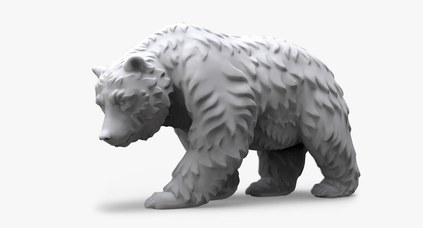 Walking Bear (Sculpture-2)