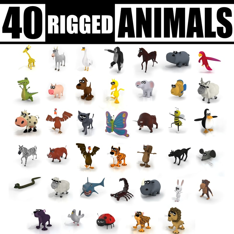 40 RIGGED ANIMALS COLLECTION