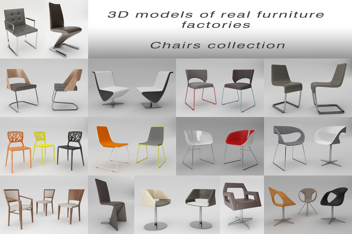 Collection of Quality 3D models of real furniture factories