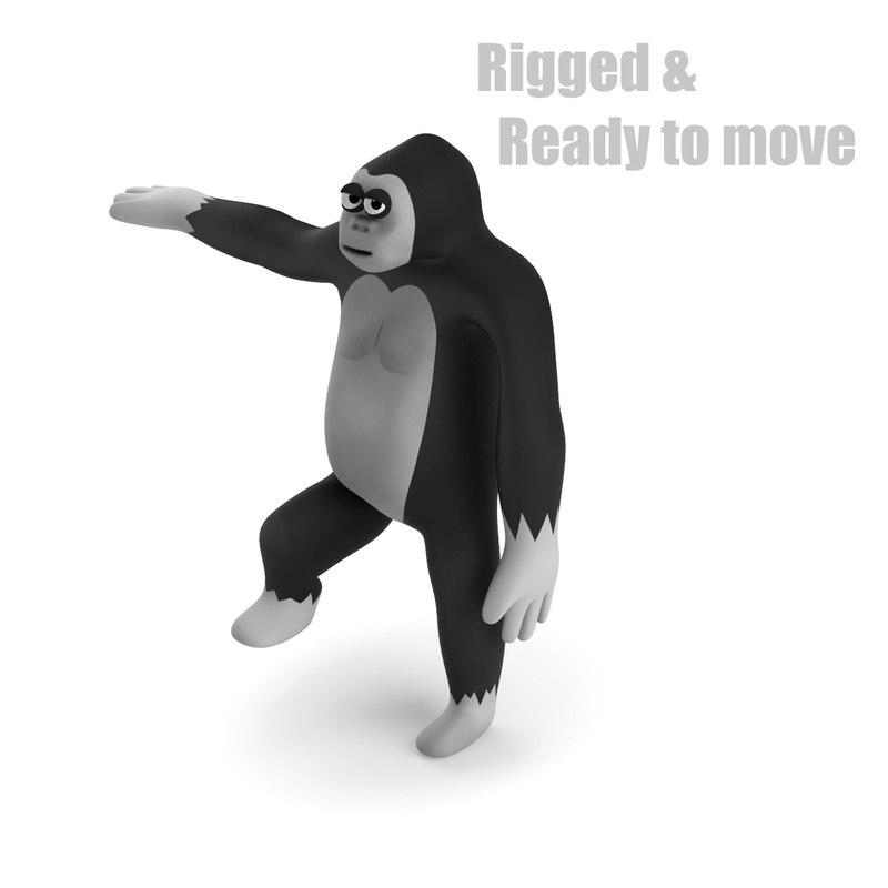 Cartoon Gorilla - RIGGED