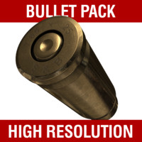 9mm bullet 3D models