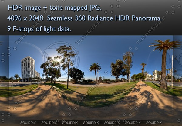 SANTA MONICA PARK, 360 PANORAMA #200 Texture Maps