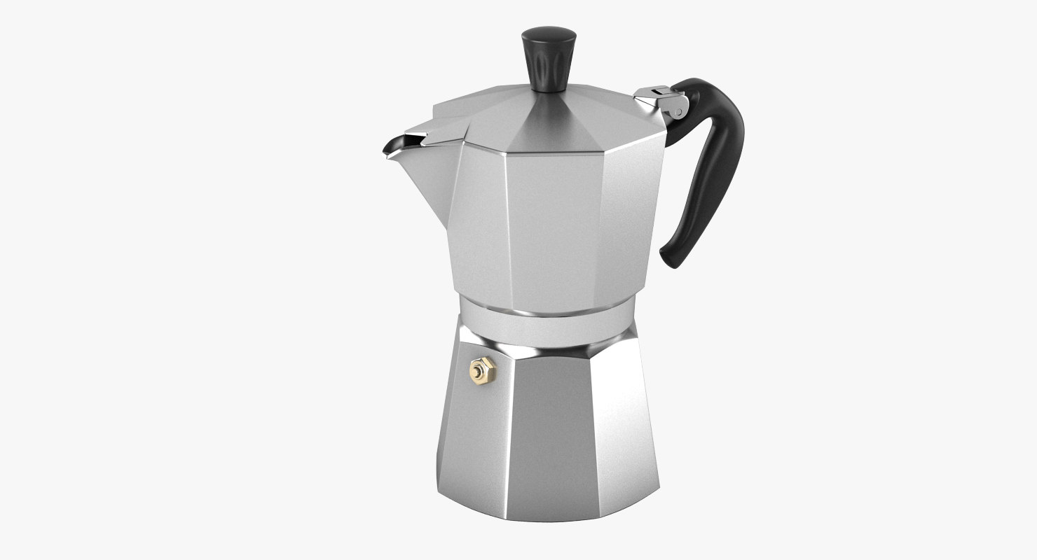 3d model bialetti espresso machine. Black Bedroom Furniture Sets. Home Design Ideas
