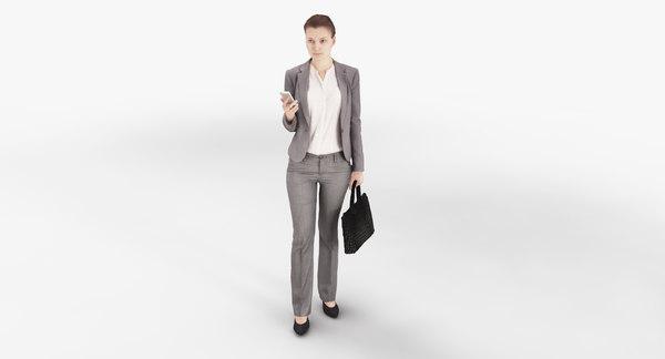 Businesswoman 16 VRAY ready 3D Models