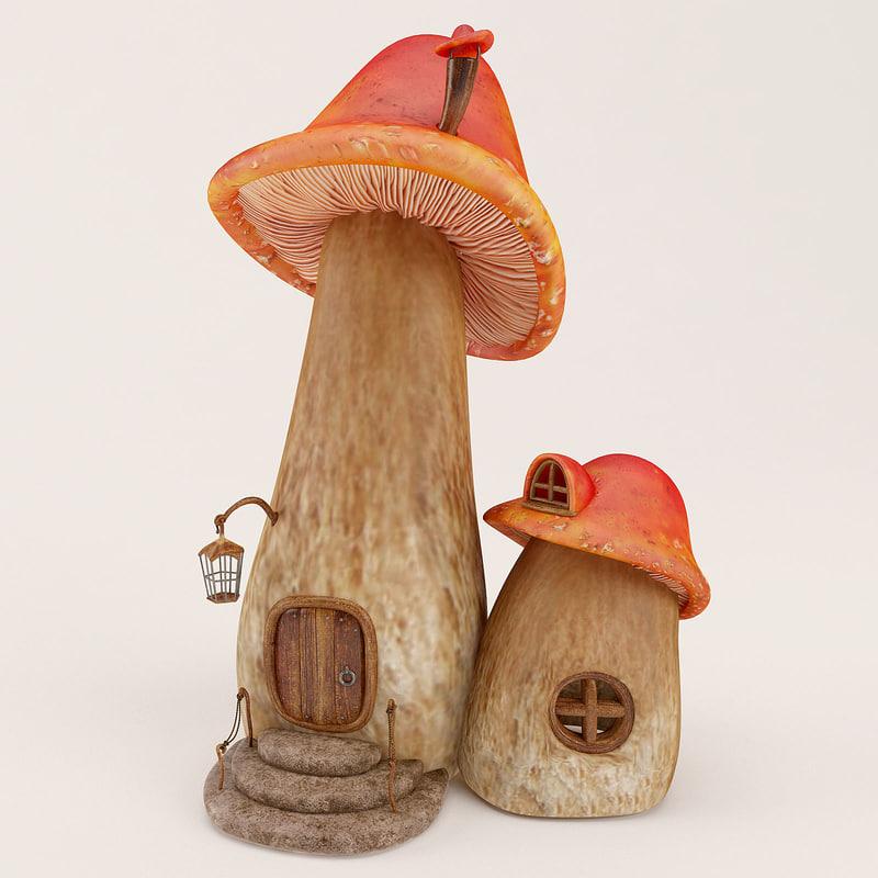 Cartoon Mushroom House 02