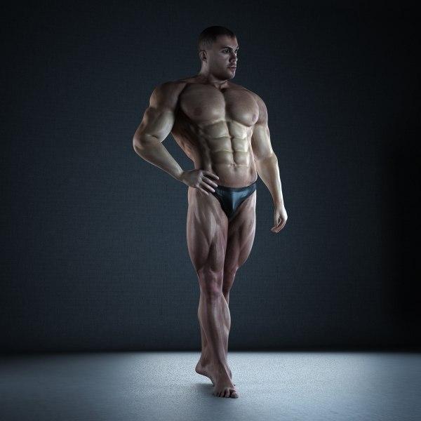 Bodybuilder Man (Rigged) ext.v2