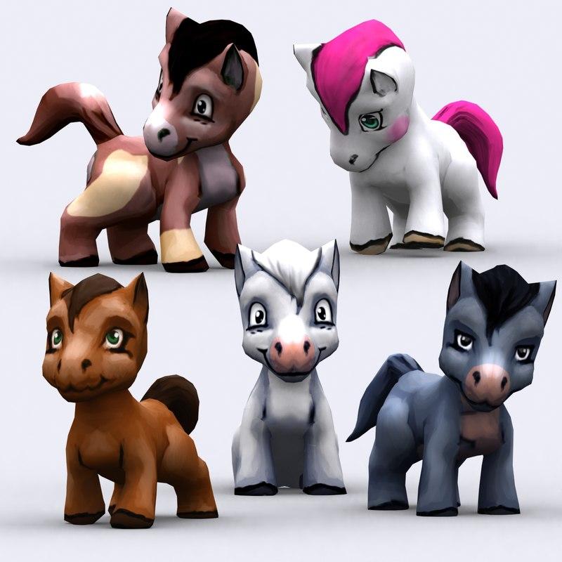 3ds max chibii   pony animals