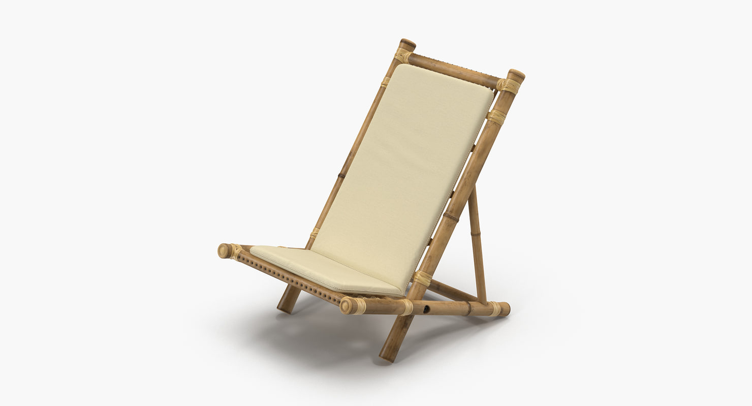 Bamboo Chair with Mattress (light, clean)