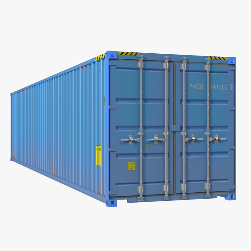 40 ft ISO Container Blue 3d model 00.jpg
