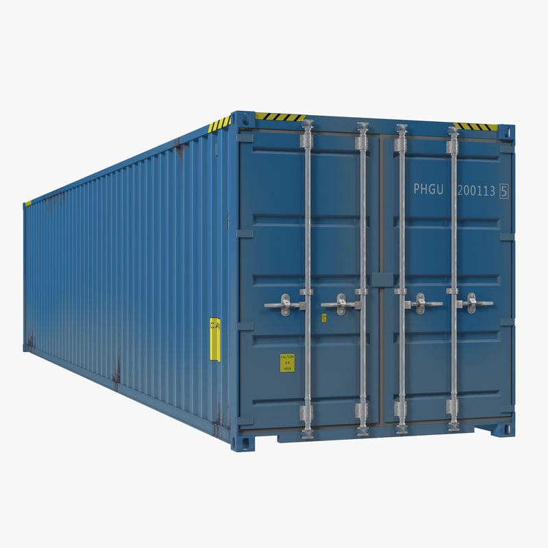 40 ft ISO Container Blue 3ds model 00.jpg