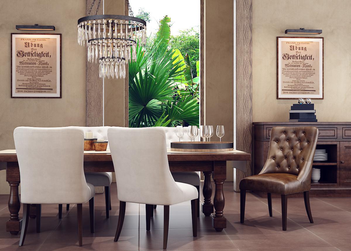 Rustic Dining Room Interior