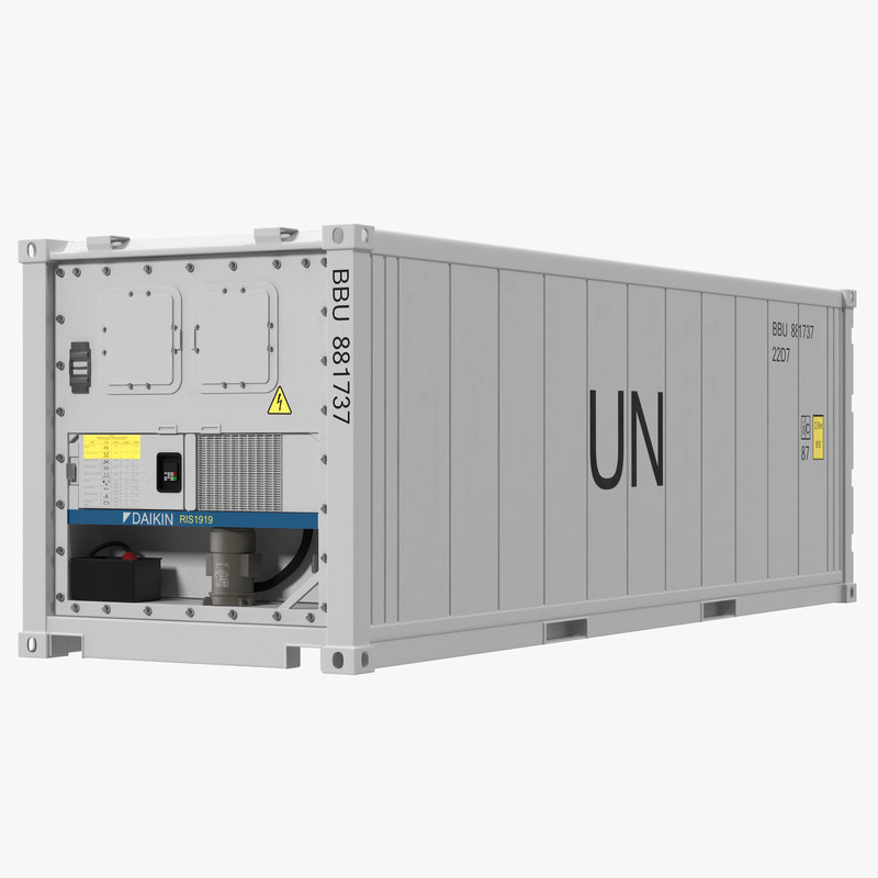 ISO Refrigerated Container 3d model 00.jpg