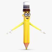 cartoon pencil 3D models
