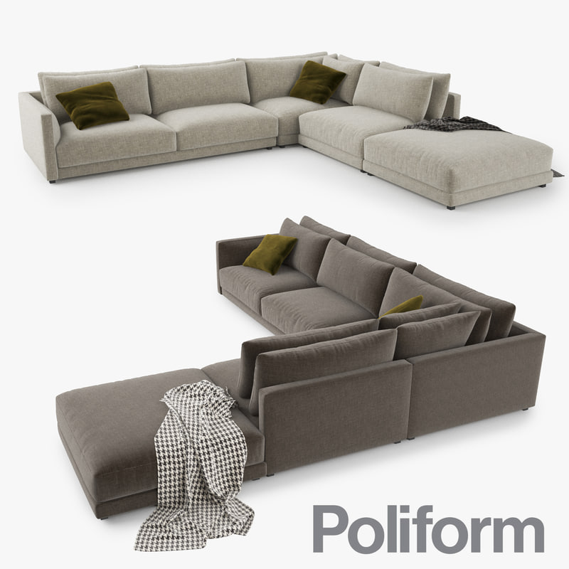 3d 3ds Poliform Bristol Sofa