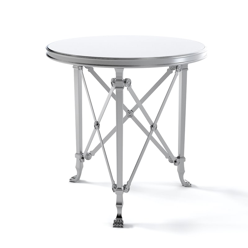 Ralph Lauren Cannes gueridon End Table neoclassical classic classical steel round top.jpg