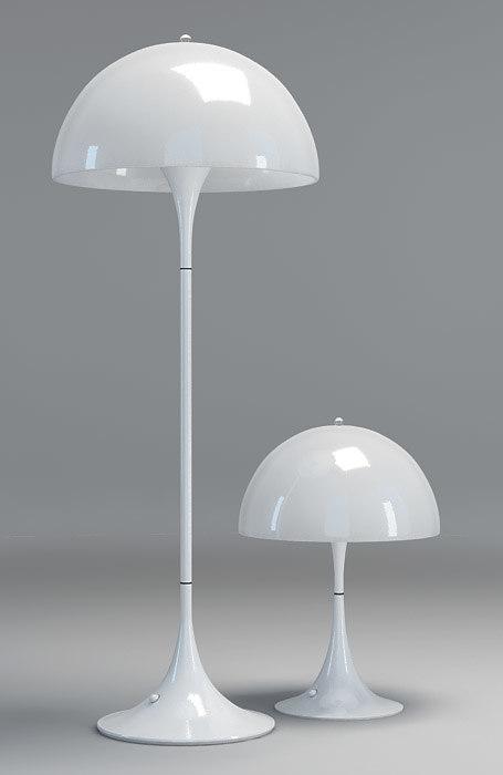 panthella lamps louis poulsen 3d model. Black Bedroom Furniture Sets. Home Design Ideas