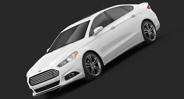 Ford Fusion Titanium 2014 3D Models