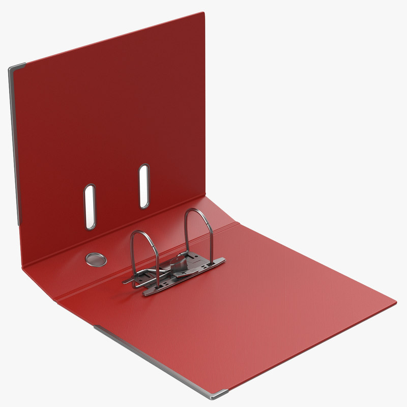 Open Ring Binder Red 3d model 00.jpg