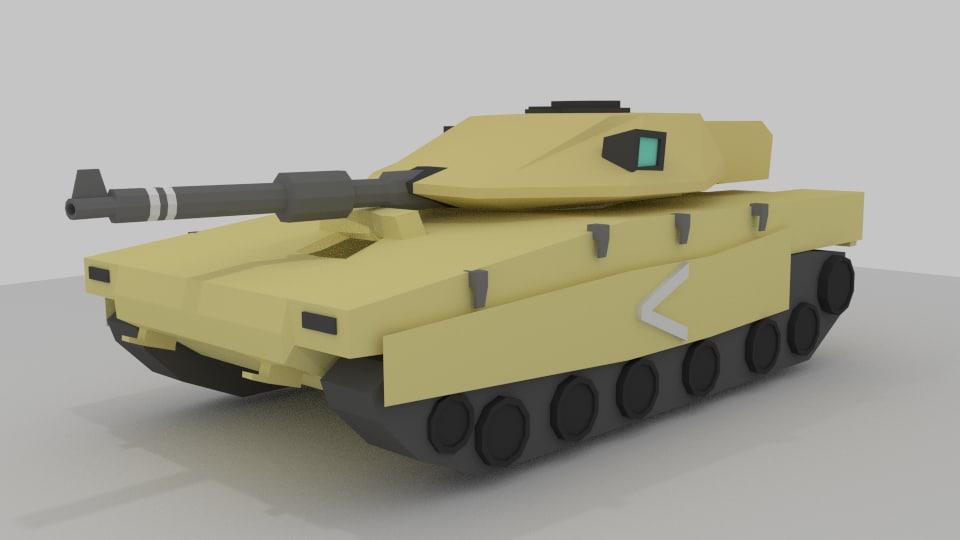 Merkava MK4 (Low Poly)