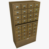 card catalog 3D models