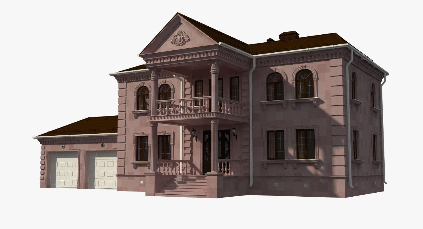 mansion natural stone 3d model