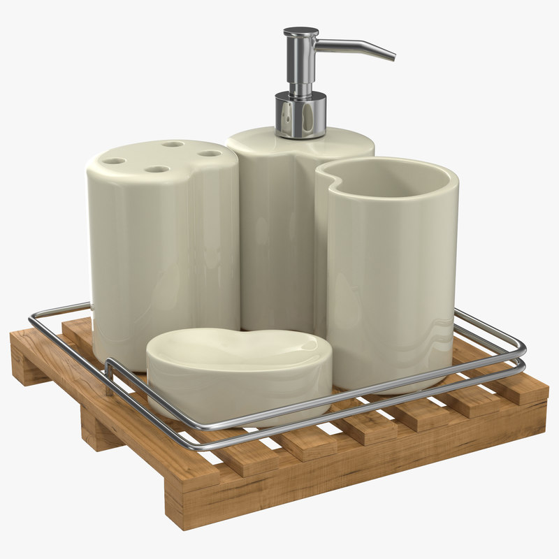 3d bathroom accessories set model for 3d bathroom accessories