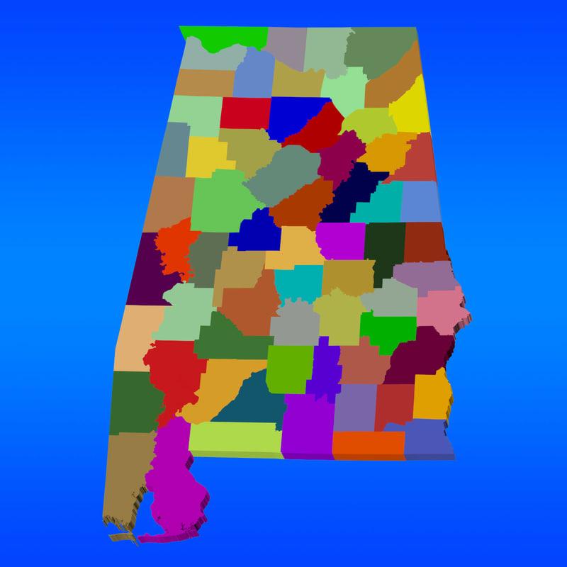 County Map - Alabama