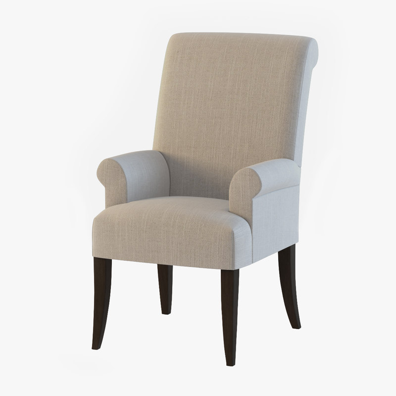 pottery barn fort armchair 3d max