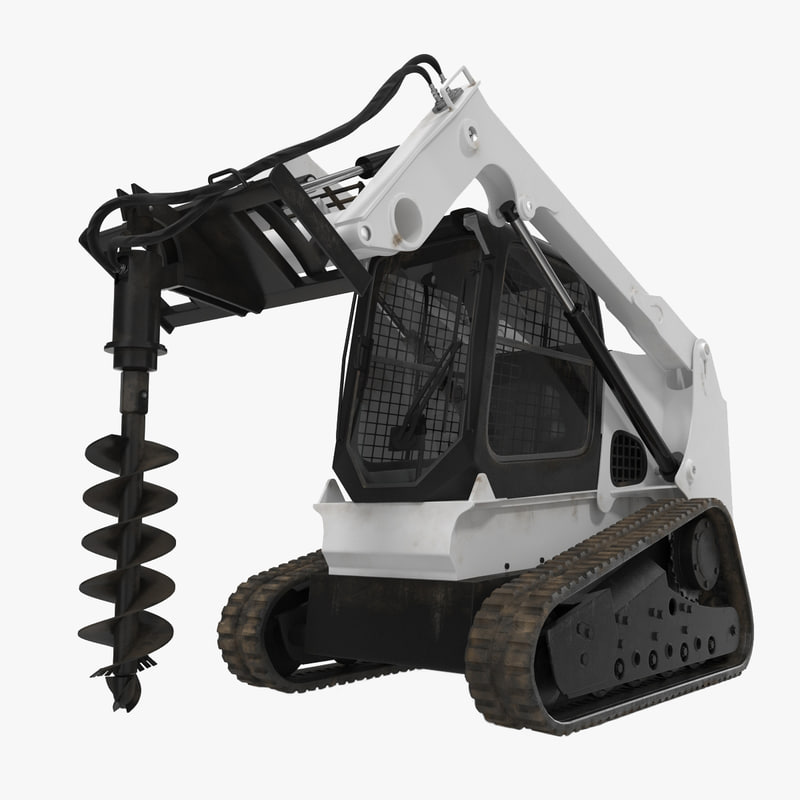 Compact Tracked Loader with Auger