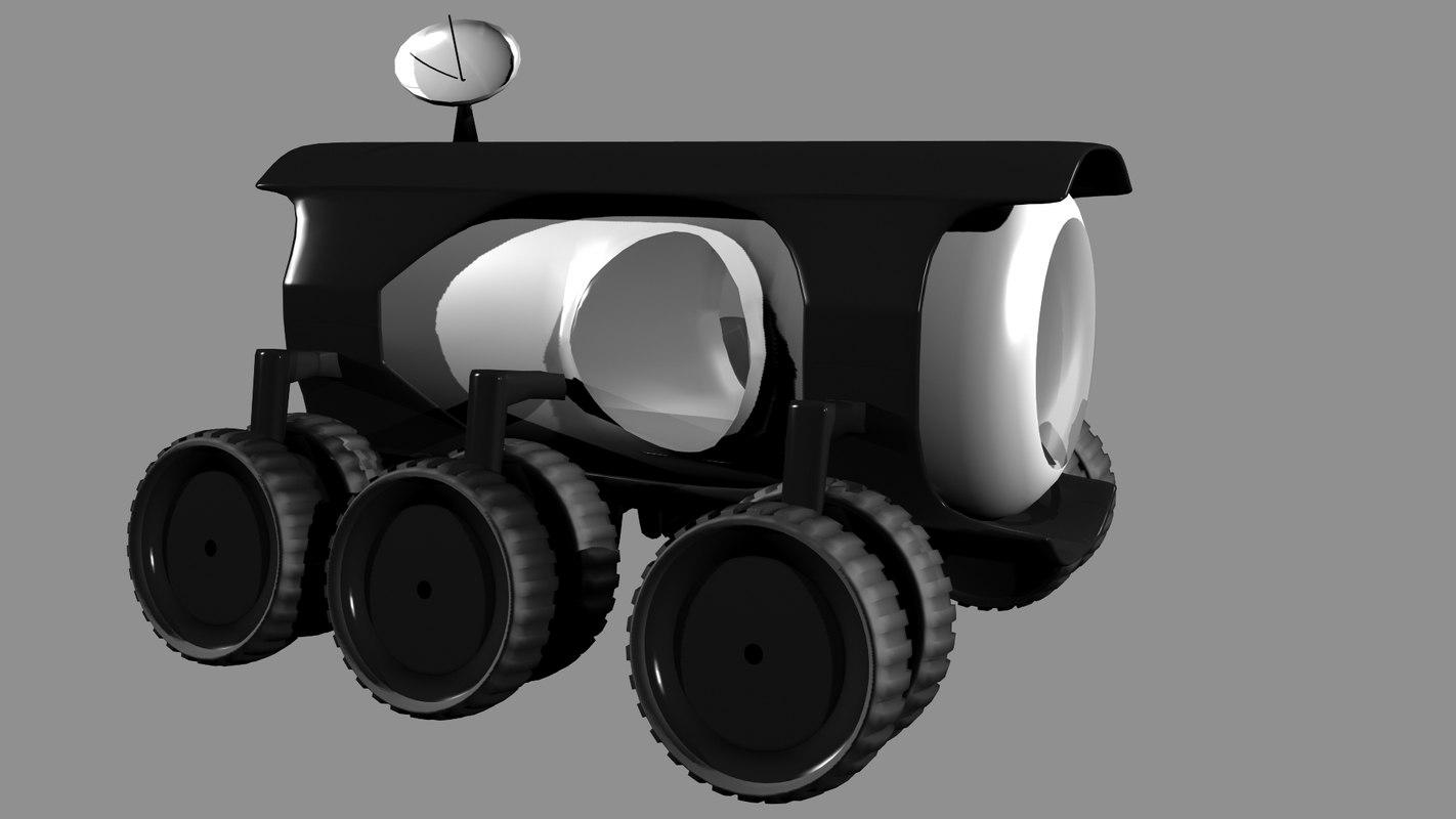 Futuristic Moon Vehicle